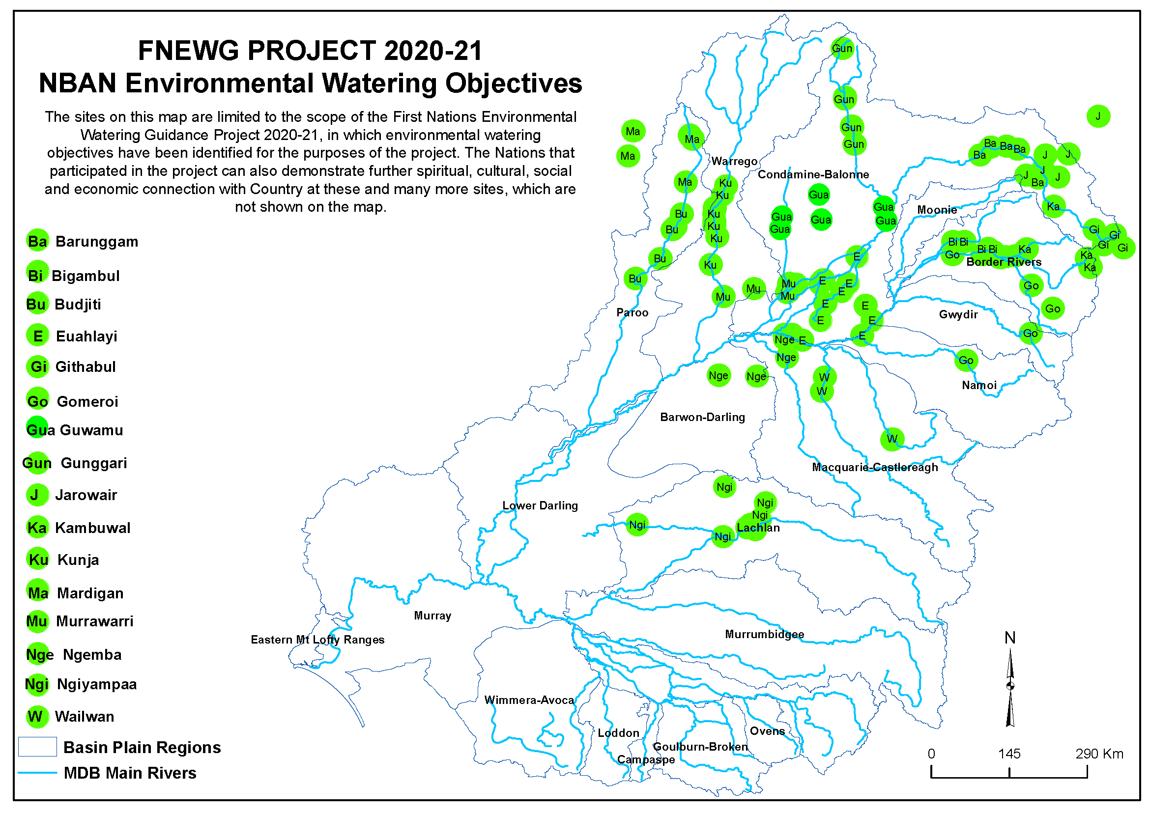NBAN Environmental Watering Objectives Map
